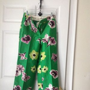 J.Crew Collection punk floral trouser NWT